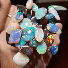Solid Boulder Opal From Duck Creek Now At The Brisbane Opal Museum