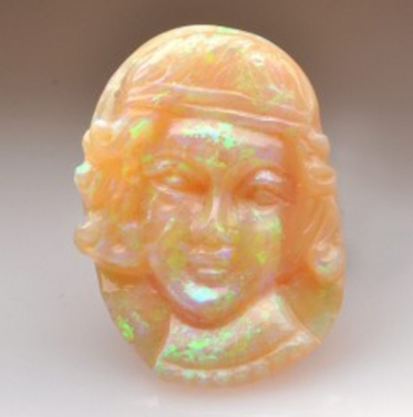 Solid Opal Carving  Cameo