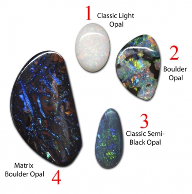 Which of these 4 opals is the most valuable?