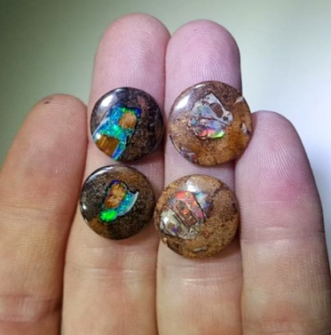 Matrix Opal Loose Stones (small & round)