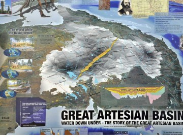 Australian Map of the Great Artesian Basin